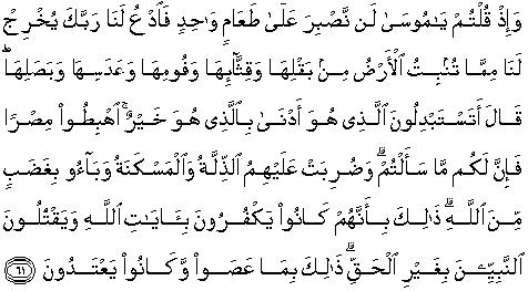 Al Quran Translation In English - Surah Al-Baqarah
